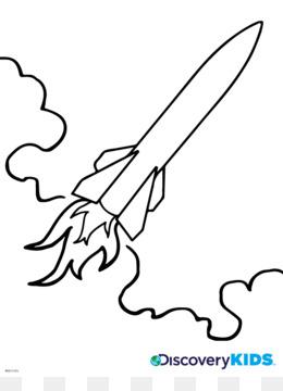 Roket Gambar Buku Mewarnai Gambar Png