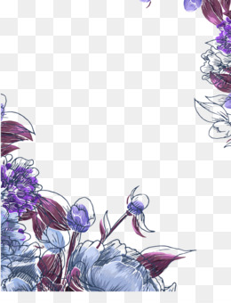 Bunga Bunga Ungu Unduh Gratis Lukisan Cat Air Cat Air Bunga Bunga Ungu Gambar Png