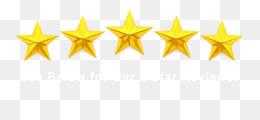 5 Bintang unduh gratis - Bintang Kuning Simetri Font - 5 Bintang gambar png