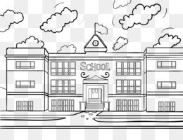 Gambar Mewarnai Gedung Sekolah Gambarkakak