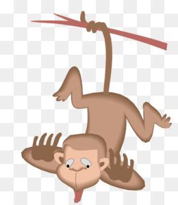 Gambar Monyet Dan Anaknya Animasi Kartun Monyet Anak Gambar Png