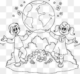 Bumi Hari Bumi Buku Mewarnai Gambar Png