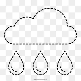 Buku Mewarnai Awan Hujan Gambar Png