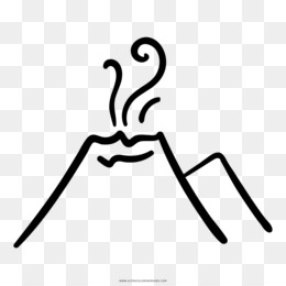 Gunung Berapi Gambar Buku Mewarnai Gambar Png