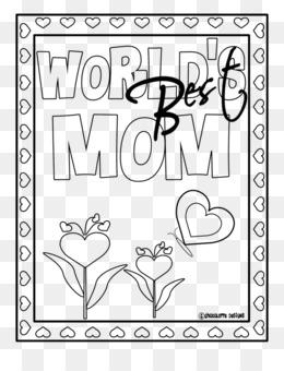 Buku Mewarnai Hari Ibu Ibu Gambar Png