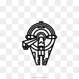 Kepala Logo Unduh Gratis Buku Mewarnai Gambar Millennium Falcon