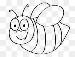 Lebah Lebah Madu Buku Mewarnai Gambar Png