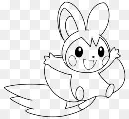 Pokemon Hitam Putih Pikachu Buku Mewarnai Gambar Png