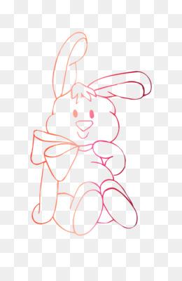 Kelinci Paskah Hitam Dan Putih Buku Mewarnai Gambar Png