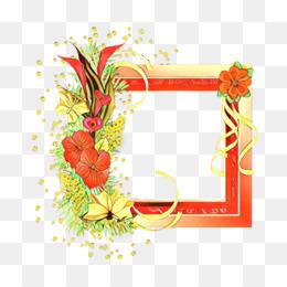 Desain Bunga, Bingkai Foto, Kartu Ucapan gambar png